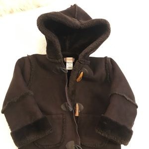 Other - Hippopotamus chocolate-brown hooded toggle coat